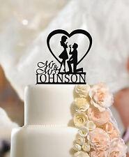 Prsonalised Fiance & Fiancee Cake Toppers Engagement, Mr & Mrs, quality acrylic