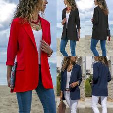 Women Slim Casual Business Blazer Suit Work Jacket Long Sleeve Coat Outwear Tops