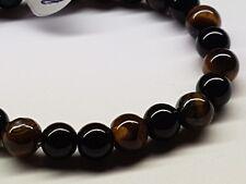 Unisex Gemstone-Bracelet Tigers Eye & Black Onyx-All Sizes-Valentines Gift