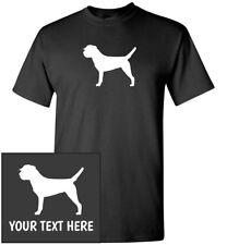 Border Terrier Silhouette T-Shirt, Men Women Youth Kids Long Tank Custom Tee dog