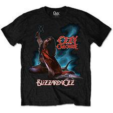 UFFICIALE Ozzy Osbourne Blizzard Of Ozz T-Shirt Nera Nuova Tutte le Taglie Randy Rhoads
