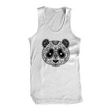 Sugar Skull Panda Bamboo Cute Day Of The Dead Tattoos Unbranded Mens Tank Top