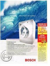PUBLICITE ADVERTISING 2004    BOSCH  machine à laver  votre linge a de la valeur