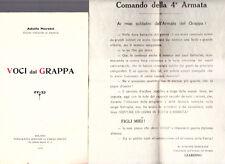 MORETTI. Voci dal Grappa 1918. diploma d'onore  ai soldati  4° armata del Grappa