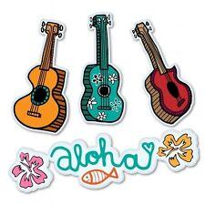 Ukulele Aloha Hawaii Set Car Vinyl Sticker - SELECT SIZE