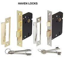3 LEVER MORTICE INTERNAL SASH DOOR LOCK 2.5 INCH brass & Chrome plate