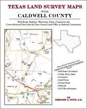 Caldwell County Texas Land Survey Maps Genealogy TX