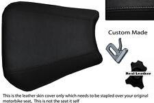 Negro Custom 00-01 Fits Yamaha 1000 Yzf R1 real de piel cubierta de asiento