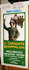 Franco Franchi IL SERGENTE ROMPIGLIONI locandina originale 1973