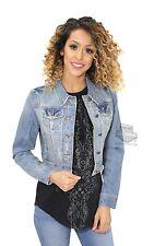 Harley-Davidson GENUINE Womens Limited Edition Blue Crop Denim Jacket NEW W/TAG