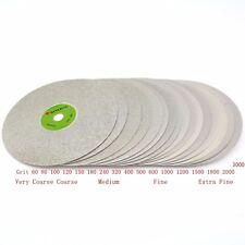 6 inch Diamond Grinding Wheel 60-3000 Grit Coated Flat Lap Disc Lapidary