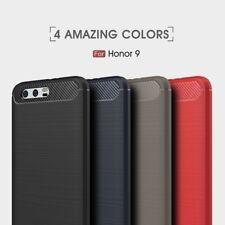 Housse etui coque silicone gel carbone pour Huawei Honor 9 + film ecran
