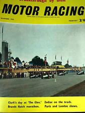 WATKINS GLEN USA GP 1962 JIM CLARK LOTUS 25 + BRM TRIBUTE FROM BOURNE