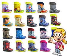 Bottes Enfants Pluie Wellington Pluvieux Neige Bottes Chaussures Chaussettes enfants bébé garçon fille