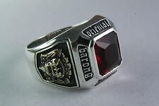 rasta vibration Oriental Biker Ring Silver Ring 925 Silver /272