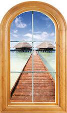 Sticker window vaulted trompe l'oeil The eye deco the Maldives ref 606