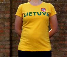 Lituania Señoras Camiseta Lietuva Vytis baloncesto equipo lituano Bandera