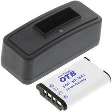 Ladegerät + Akku Typ Sony NP-BX1 Batterie Ladestation Accu Battery Ersatzakku