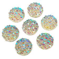 10pcs 12mm AB Round Flatback Acrylic Crystal Rhinestone Embellishments Gems