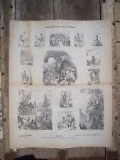 MUNCHENER BILDERBOGEN Circa. 1880/1890 PLANCHE Nr 090