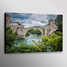 Stone Bridge Bosnia Mostar Photo Print Wall Art Canvas