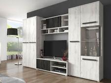 Wohnwand Viva TV Lowboard Anbauwand Vitrine Wohnzimmer Modern Design Elegante