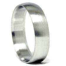 Mens Solid 14k White Gold 6mm Designer Chad Ra Wedding Band Ring