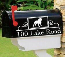 Staffy Bull, Staffordshire Bull Terrier Set of 2 mailbox decals Mai-33
