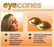 jetable coller sur solarium bronzage Yeux Protection cône / BOUCLIER lunettes