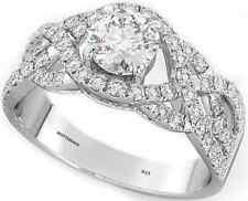 925 Silver Ladies Twist Wedding Engagement Round Cut Designer Bridal Ring