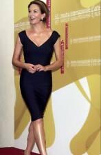 authentic Herve Leger black bandage stretch dress new XXS