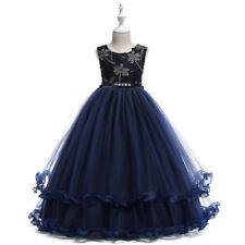 Niño Niña Vestido Concurso De Belleza Flor Cumpleaños Boda Dama Honor Formal