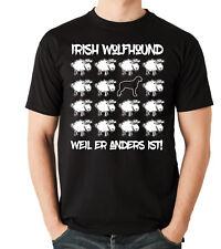 T-Shirt BLACK SHEEP - IRISH WOLFHOUND Wolfhund Hunde Fun Schaf Siviwonder
