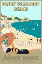 Point Pleasant Beach New Jersey Shore Retro Deco Poster Atlantic Ocean Print 341