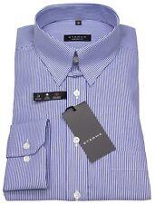 Eterna Herren Hemd Comfort Fit Tabkragen blau / weiß 4036 E186 18