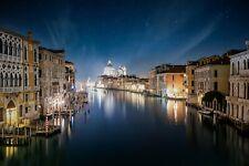 VLIES Fototapete-VENEDIG-(3973V)-Altstadt Italien Bei Nacht Fluss See Wanddeko
