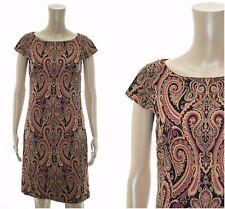 ex Monsoon Riley Paisley Orange Shift Jacquard Dress
