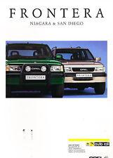 1997 Opel Frontera Isuzu German Sales Brochure 3/97