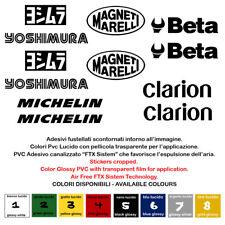 Adesivi prespaziati sponsor sticker yoshimura beta clarion michelin 10 pz.